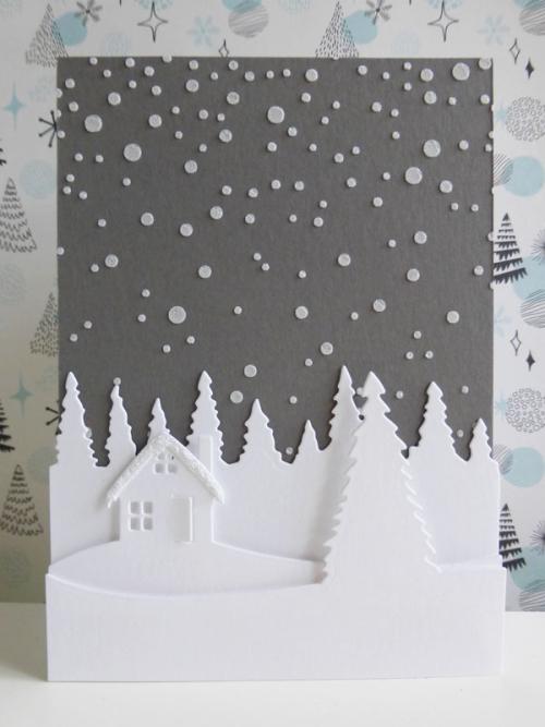 Christmas cottage scene - 2016-10-14